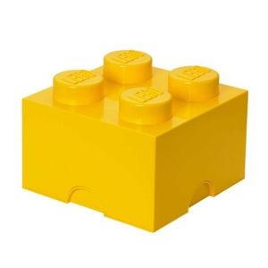 Krabica s vekom Lego Square Four Yellow