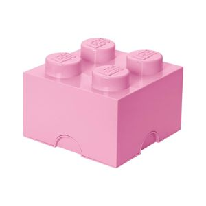 Krabica s vekom Lego Square Four Light Pink