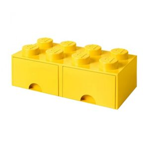 Skladovacia krabica Lego Square Duo Yellow