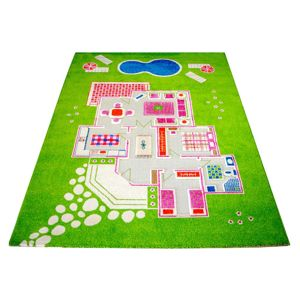 Koberec Playhouse Big 3D Green 134x200 cm