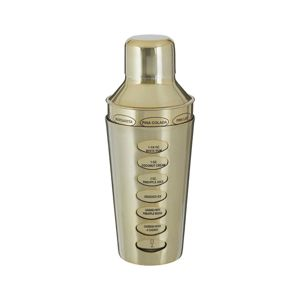 Šejkr Recipe Brushed Gold 500 ml