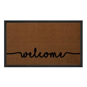 Vchodová rohožka Printy Welcome Light-Brown Anthracite 45x75 cm